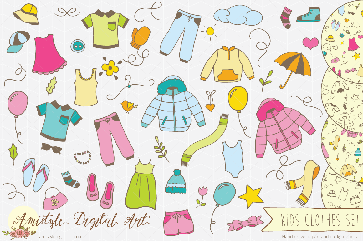 Background clipart clothes #2
