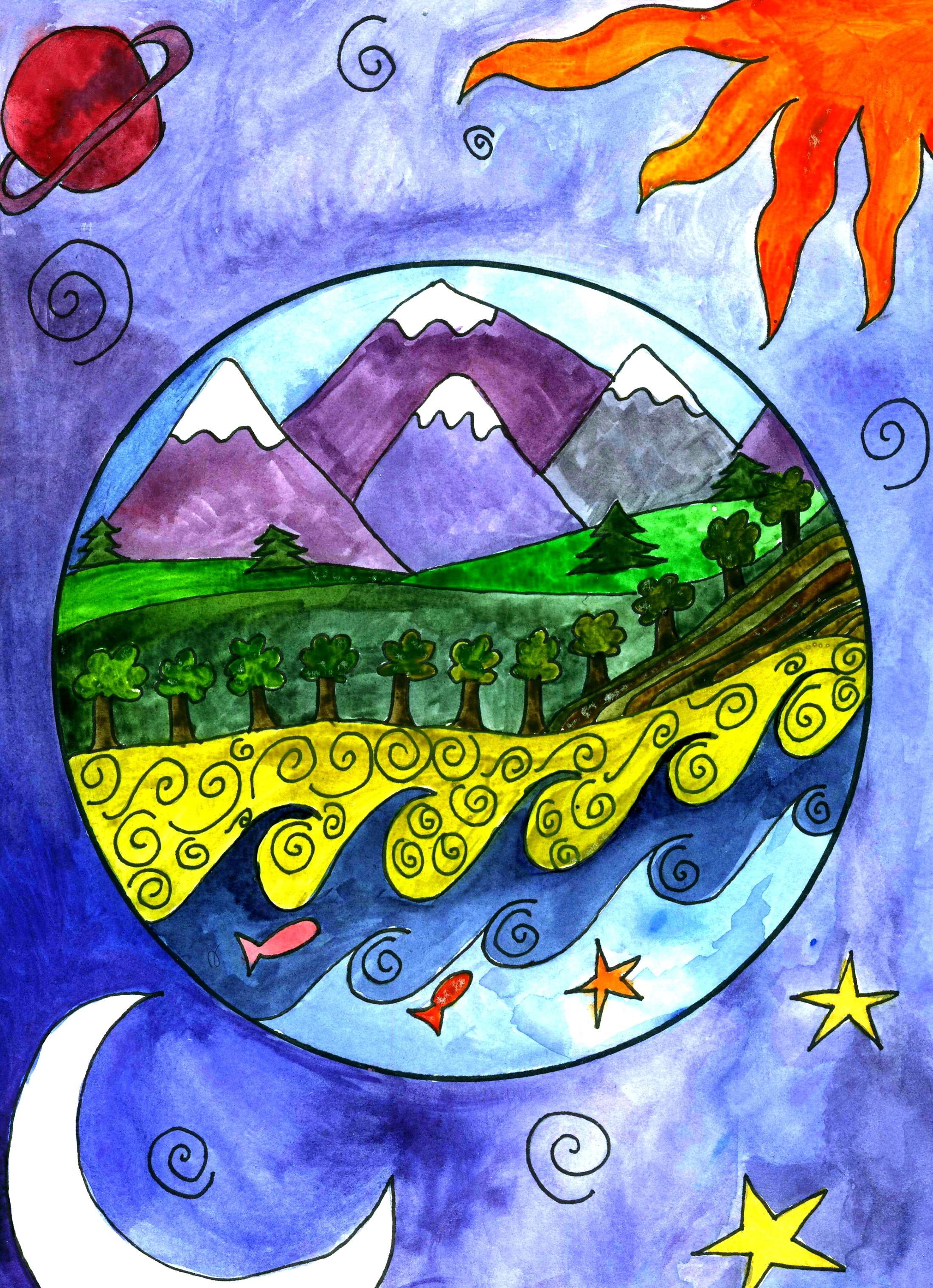 Drawn earth An  art be perfect
