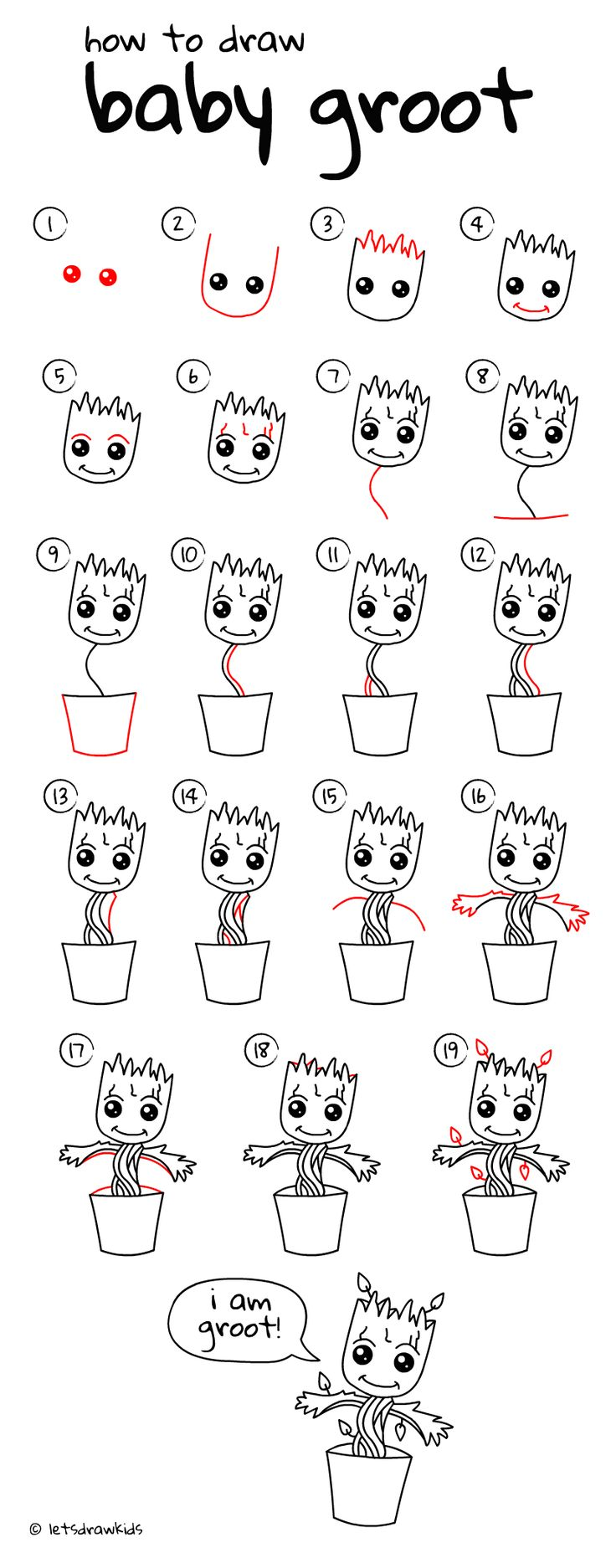Drawn little girl step by step Perfect for Baby draw Best