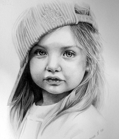 Drawn portrait kid Children sketches Search Pencil Google