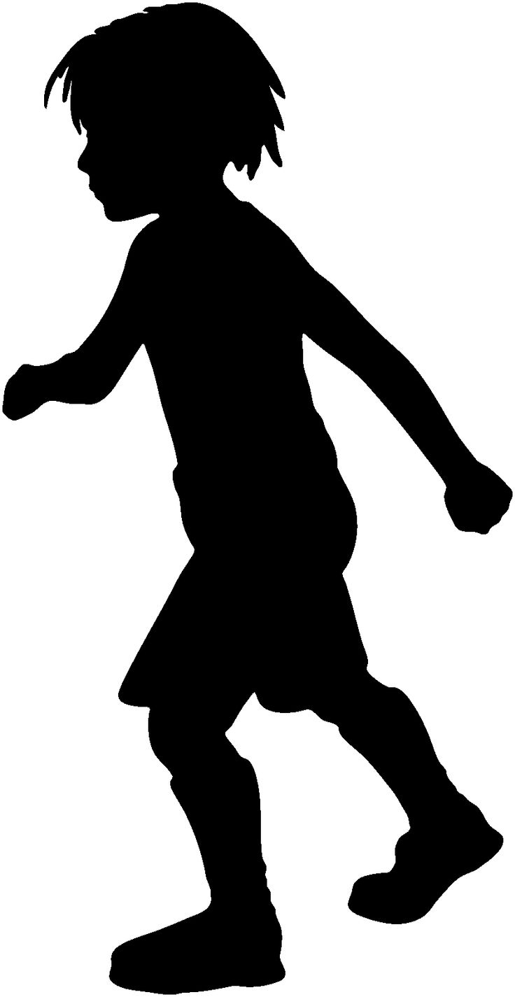 Shadow clipart excited kid #6