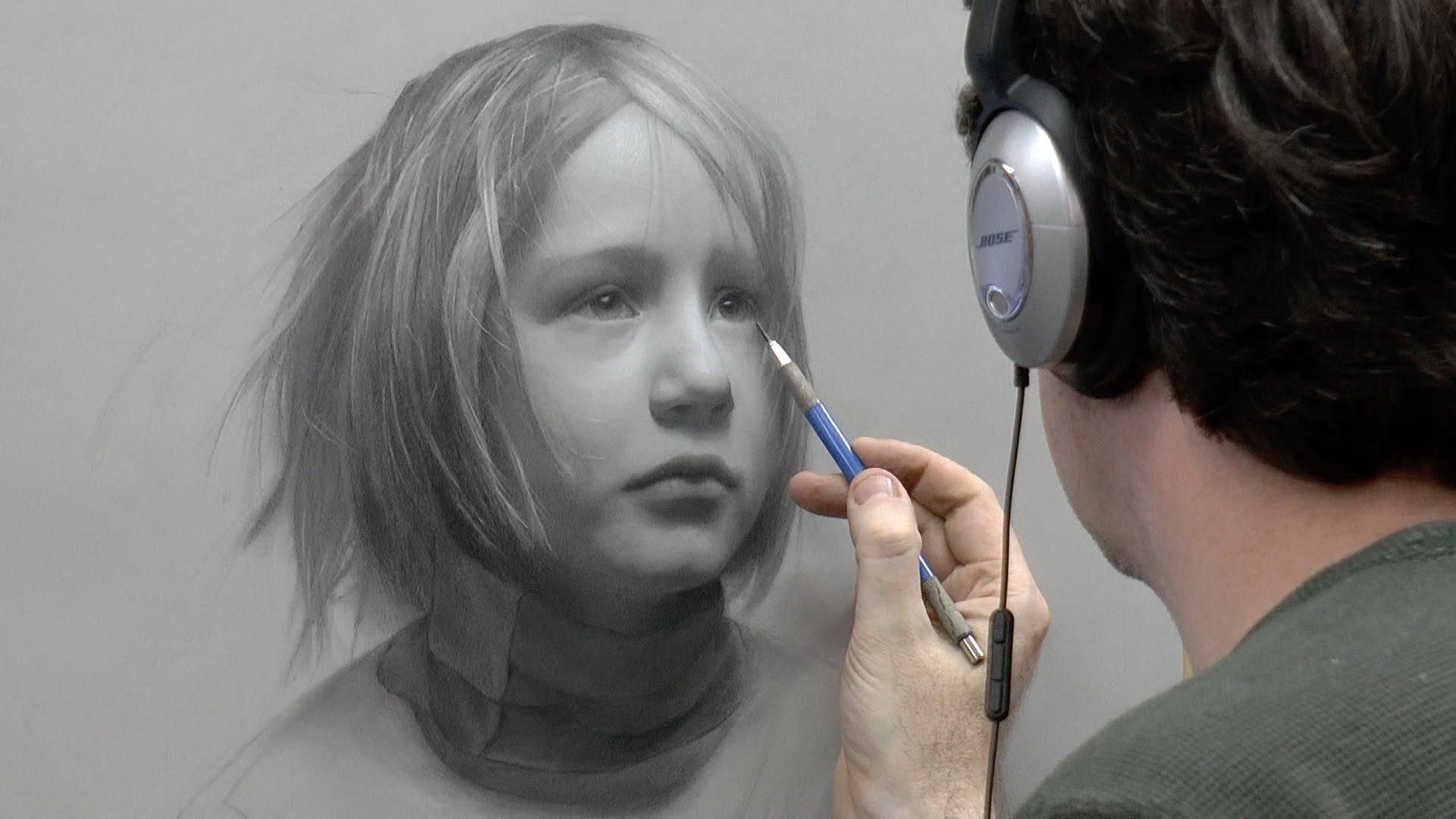 Drawn portrait kid Of of – Static