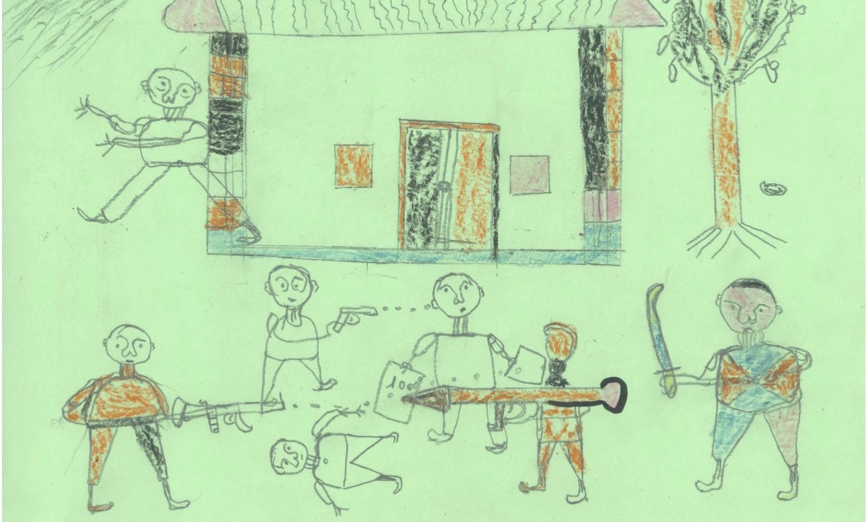 Drawn village african #15