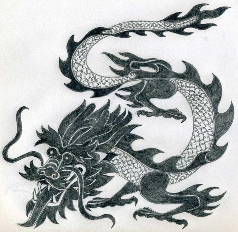 Drawn snake dragon Perfect And Drawing Drawing Dragon