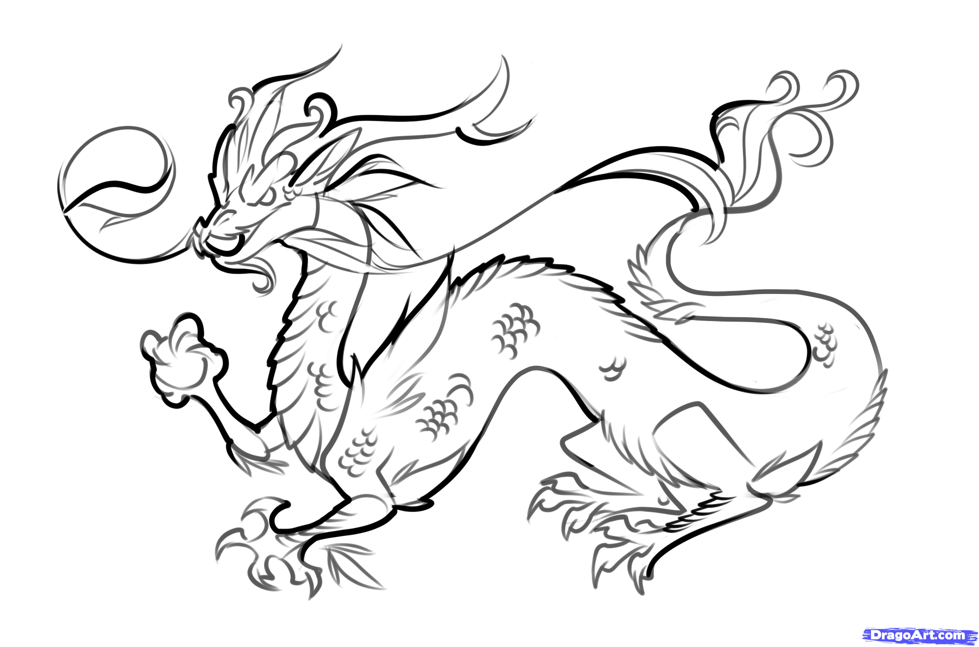 Chinese Dragon clipart easy A Chinese to Drawing Dragon