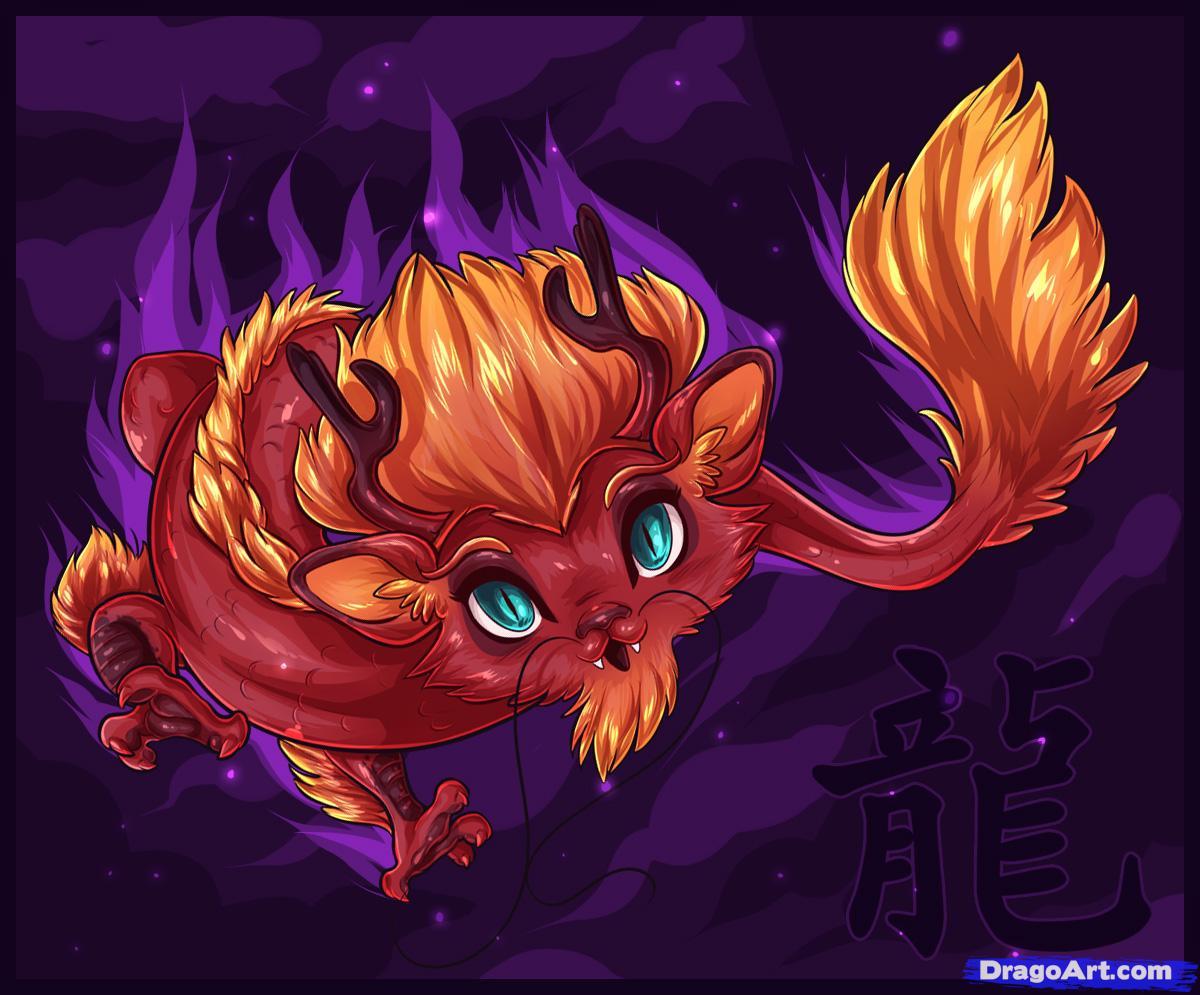 Drawn chinese dragon anime #6