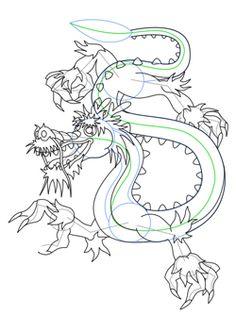 Drawn chinese dragon anime #12