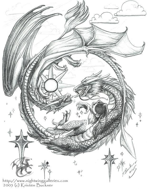 Drawn chinese dragon anime #7