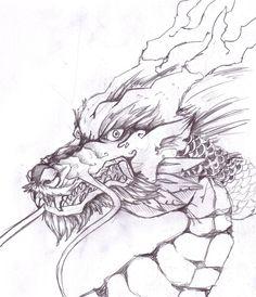 Drawn chinese dragon anime #10