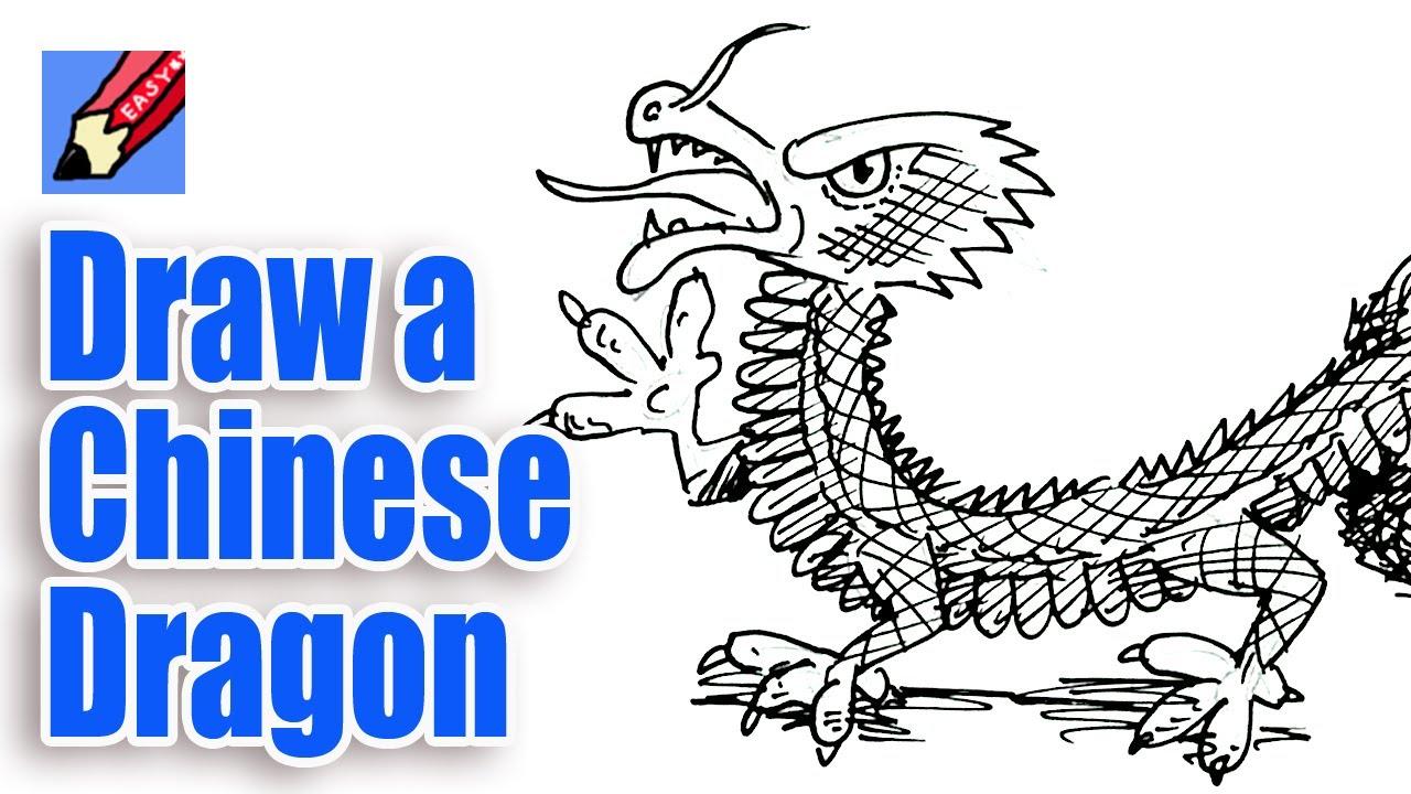 Drawn chinese dragon chinese animal #4