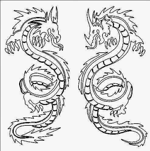 Drawn chinese dragon chinese animal #7