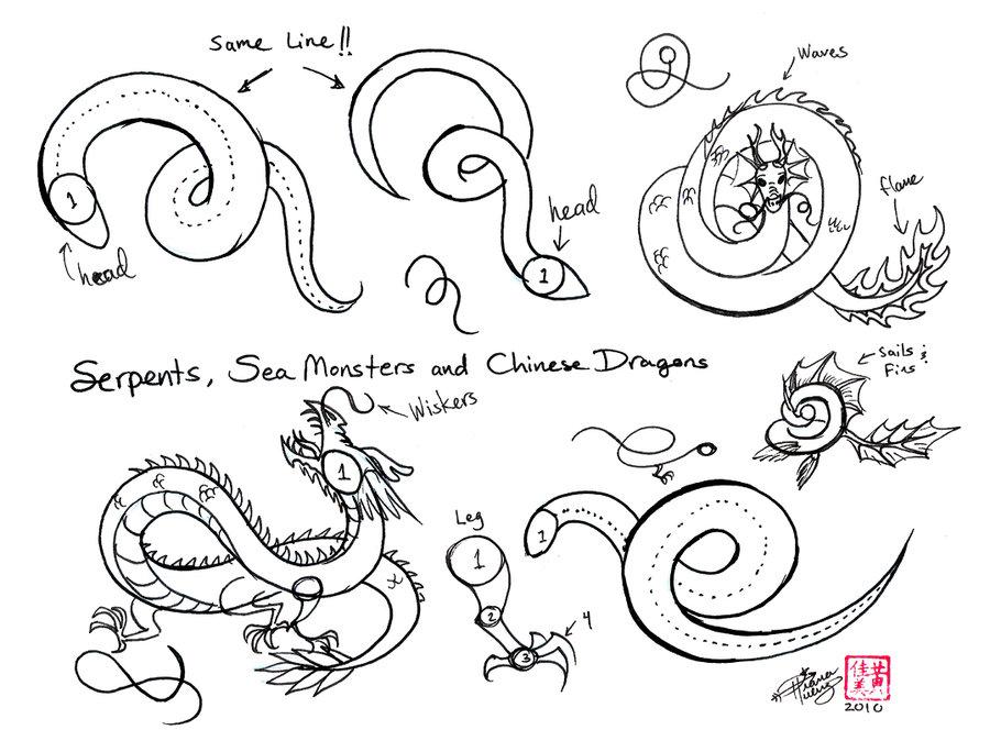 Drawn chinese dragon chinese animal #9