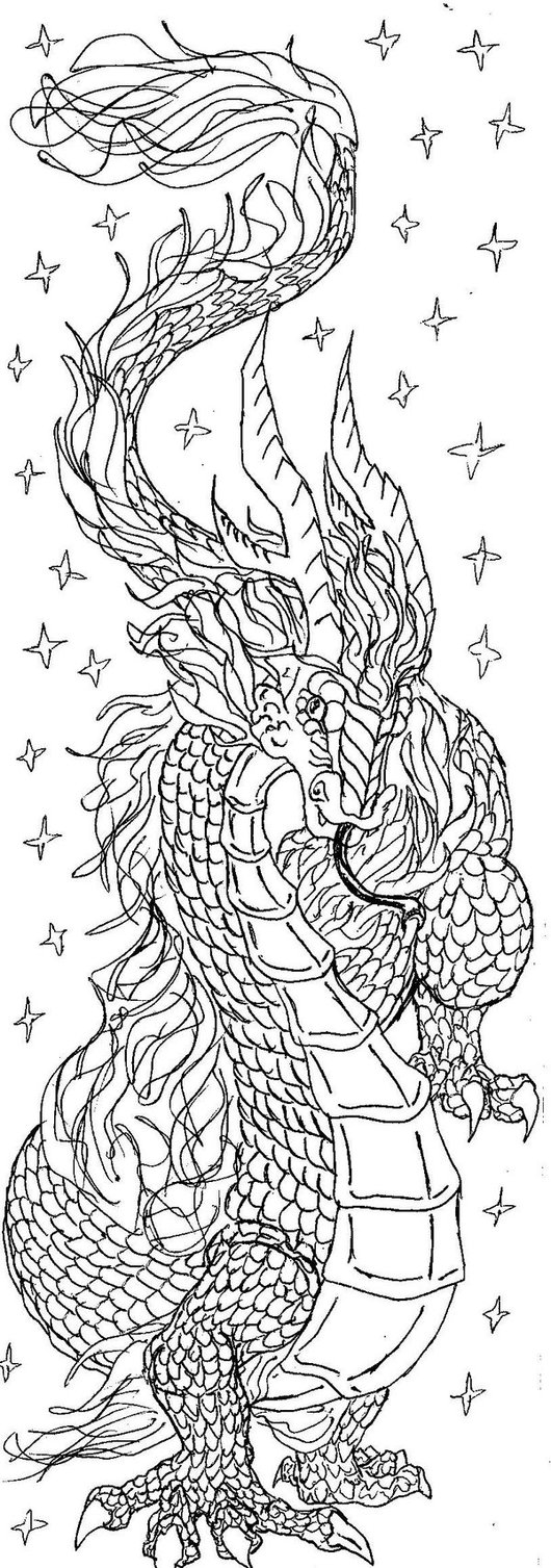 Drawn chinese dragon awesome By by Chinese DeviantArt dragon