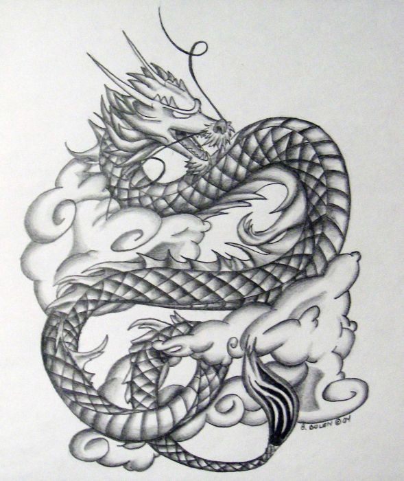 Drawn chinese dragon female Thinking chinese to In drawn