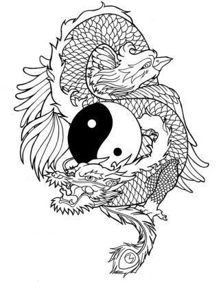 Drawn chinese dragon phoenix Pinterest chinese 164 Search line