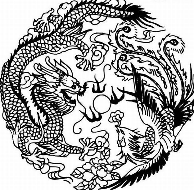 Drawn chinese dragon phoenix Dragon my Phoenix Phoenix Dragon