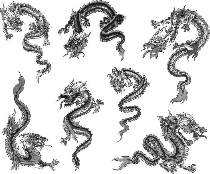 Drawn chinese dragon small #2