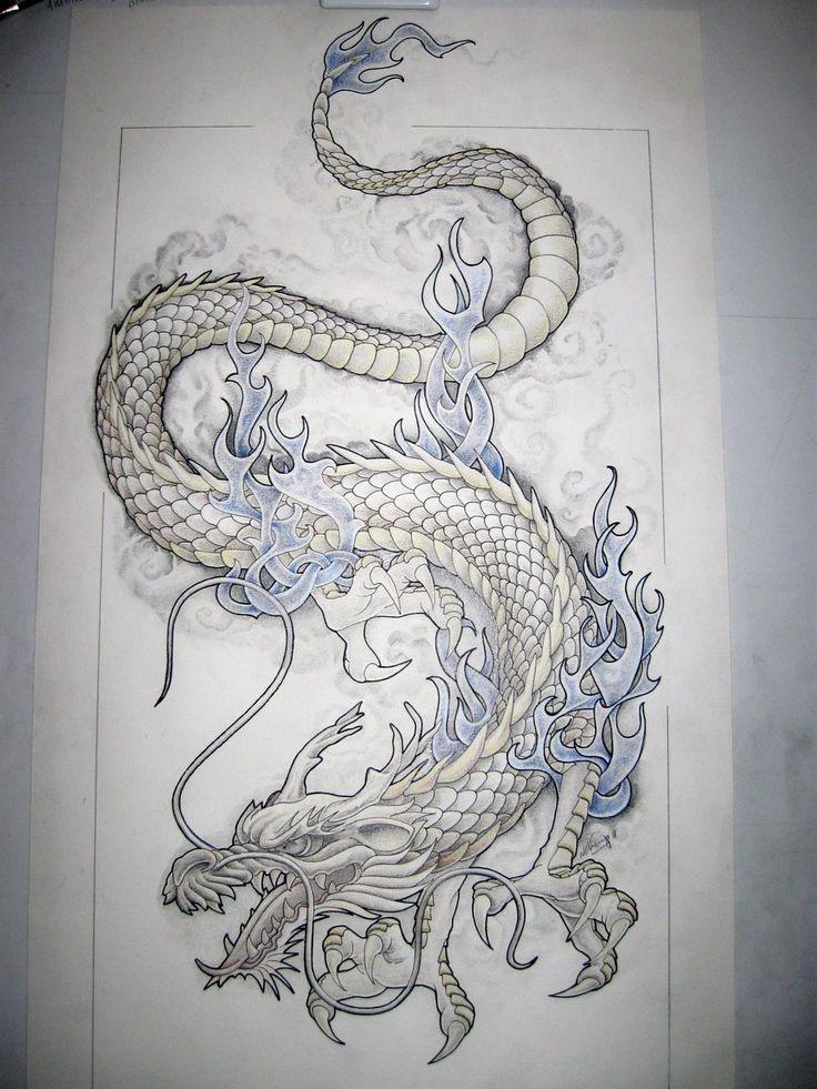 Drawn chinese dragon small #3