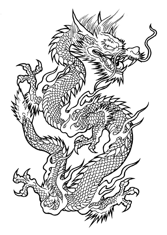 Drawn chinese dragon vietnamese dragon Vietnamese danielhuscroft Tattoo jpg com