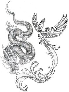 Drawn chinese dragon wing #5