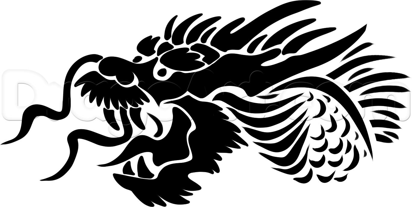 Drawn chinese dragon wing #11