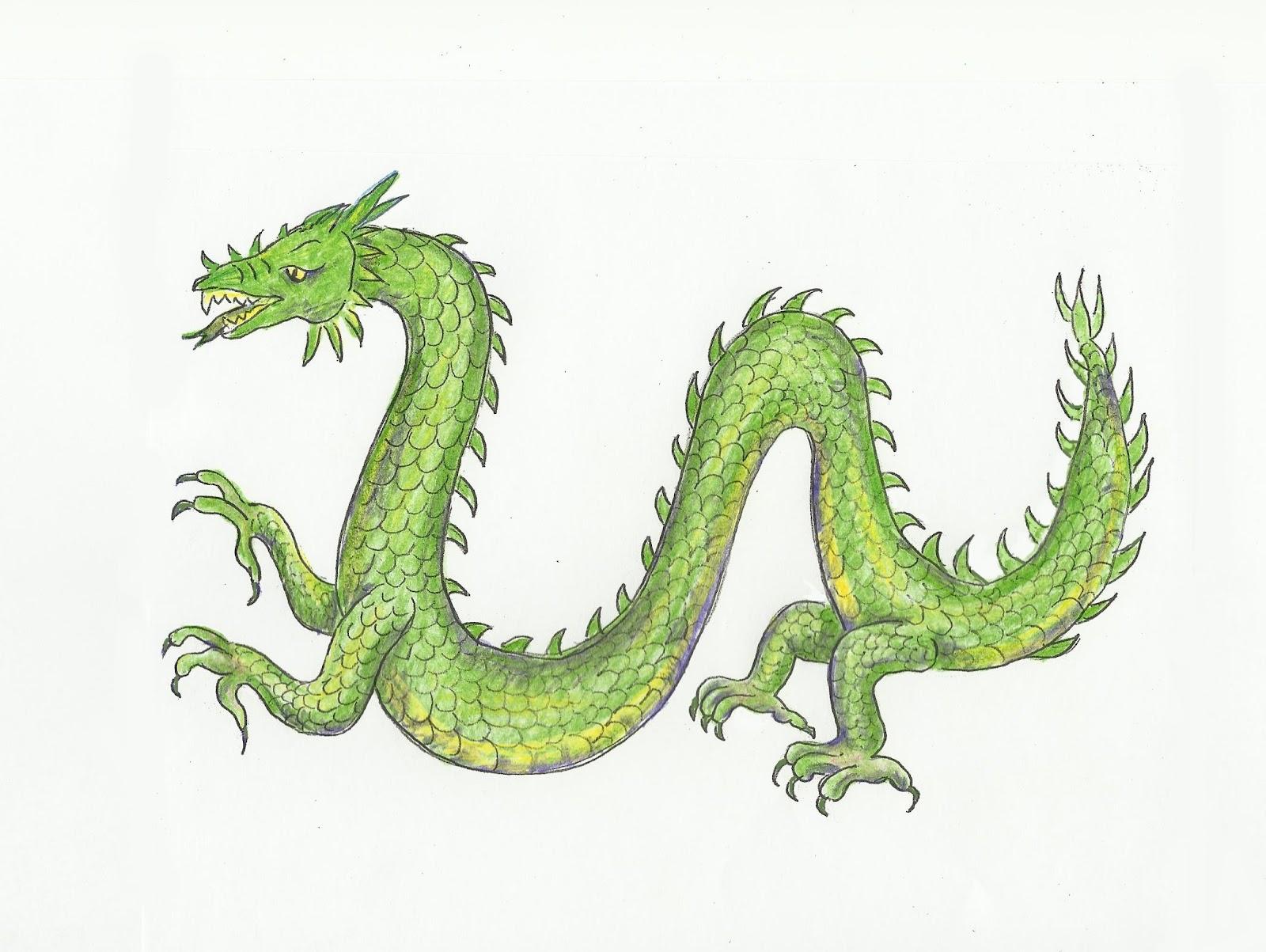 Drawn chinese dragon wing #7