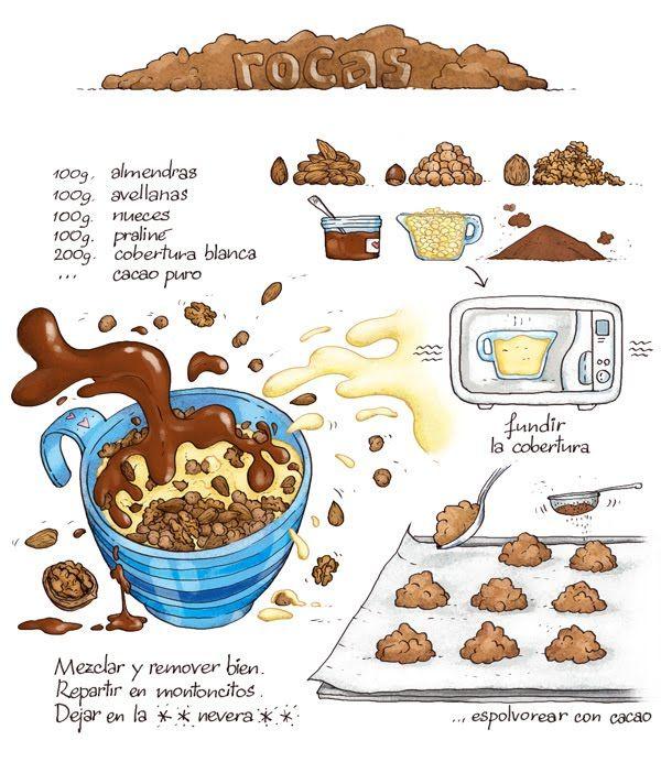 Drawn chocolate easy food #12