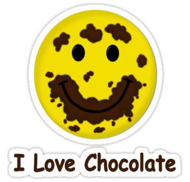 Drawn chocolate face #7