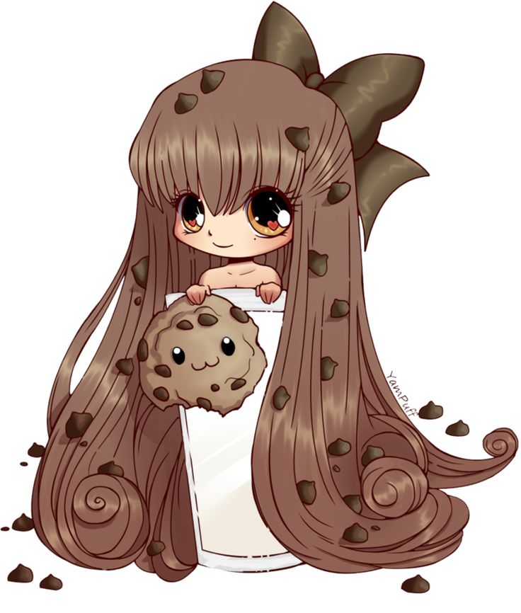 Drawn chocolate girly Images CookieGirl Sliver on anime