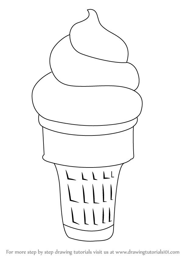Drawn ice cream beginner step by step Step Chocolate How to printable