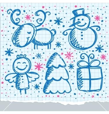 Drawn christmas Pinterest Hand  Vector on