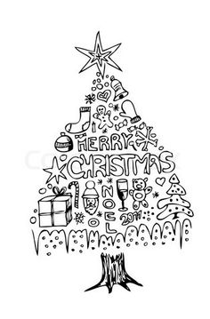 Drawn christmas ornaments christmas greeting card Google cards Hand drawn Pin