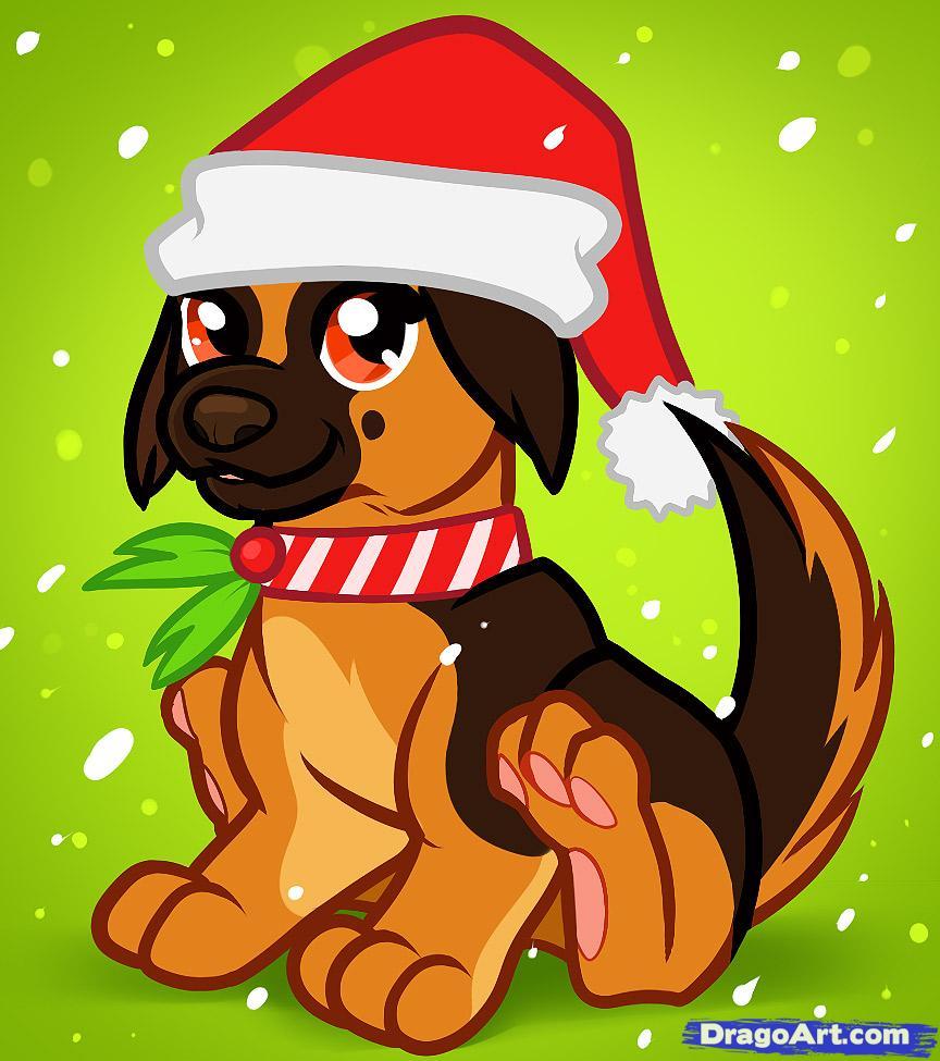 Drawn pug dragoart How Step a How Christmas