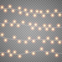 Drawn christmas lights Decorations bright background isolation Christmas