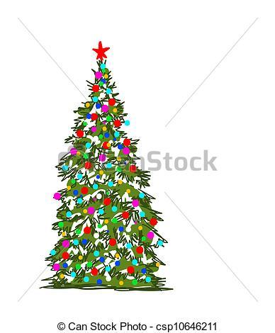 Drawn christmas ornaments abstract  Clip abstract Vector Christmas