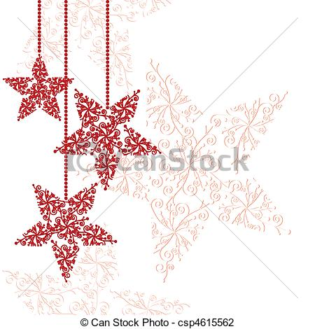 Drawn christmas ornaments abstract Christmas  Red Abstract ornaments
