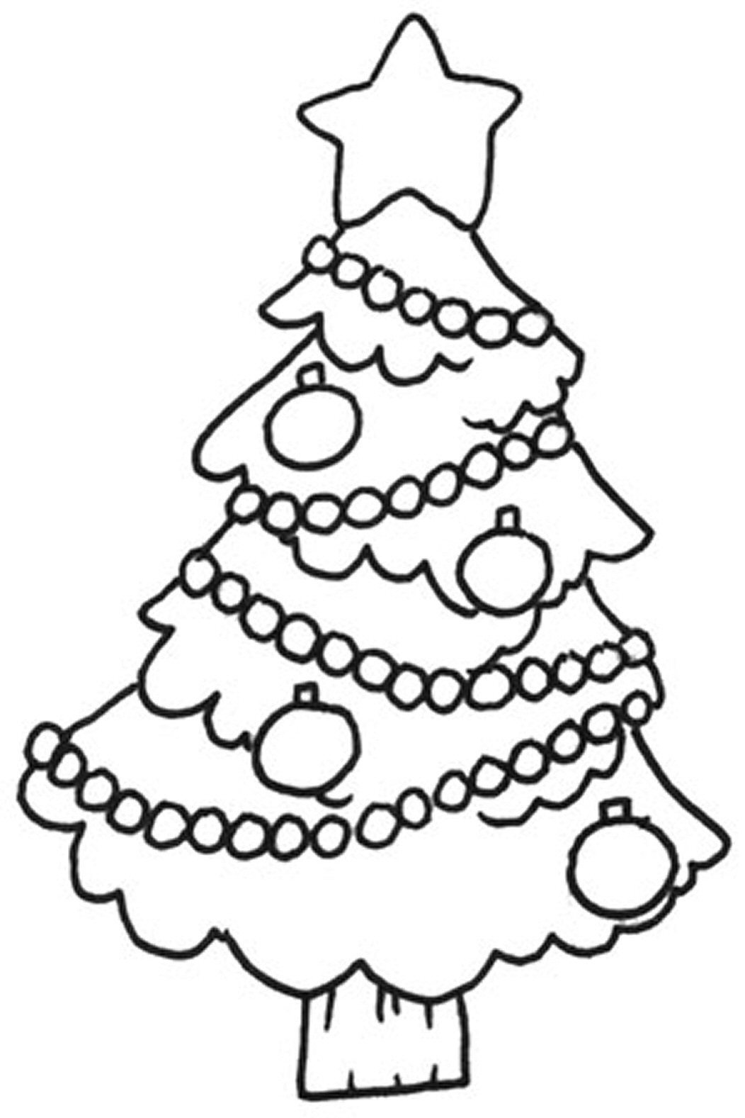 Drawn christmas ornaments blank Coloring Free Kids Tree Pages