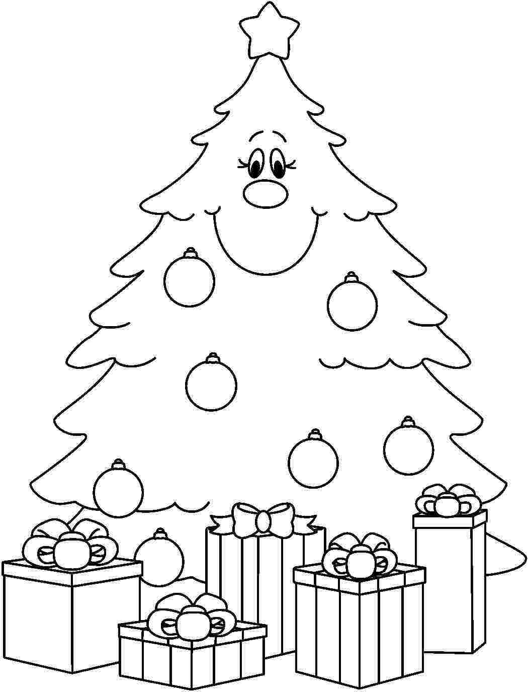 Drawn christmas ornaments blank Coloring Online Tree Christmas Page
