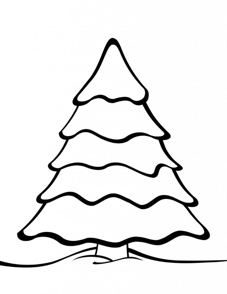 Drawn christmas ornaments blank Print Coloring Tree Christmas Free