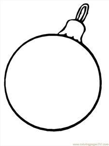 Drawn christmas ornaments blank Coloring com 25 — Christmas