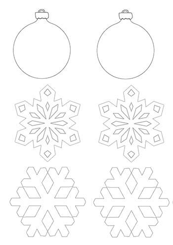 Drawn christmas ornaments blank Colorin Make tree blank Decorations