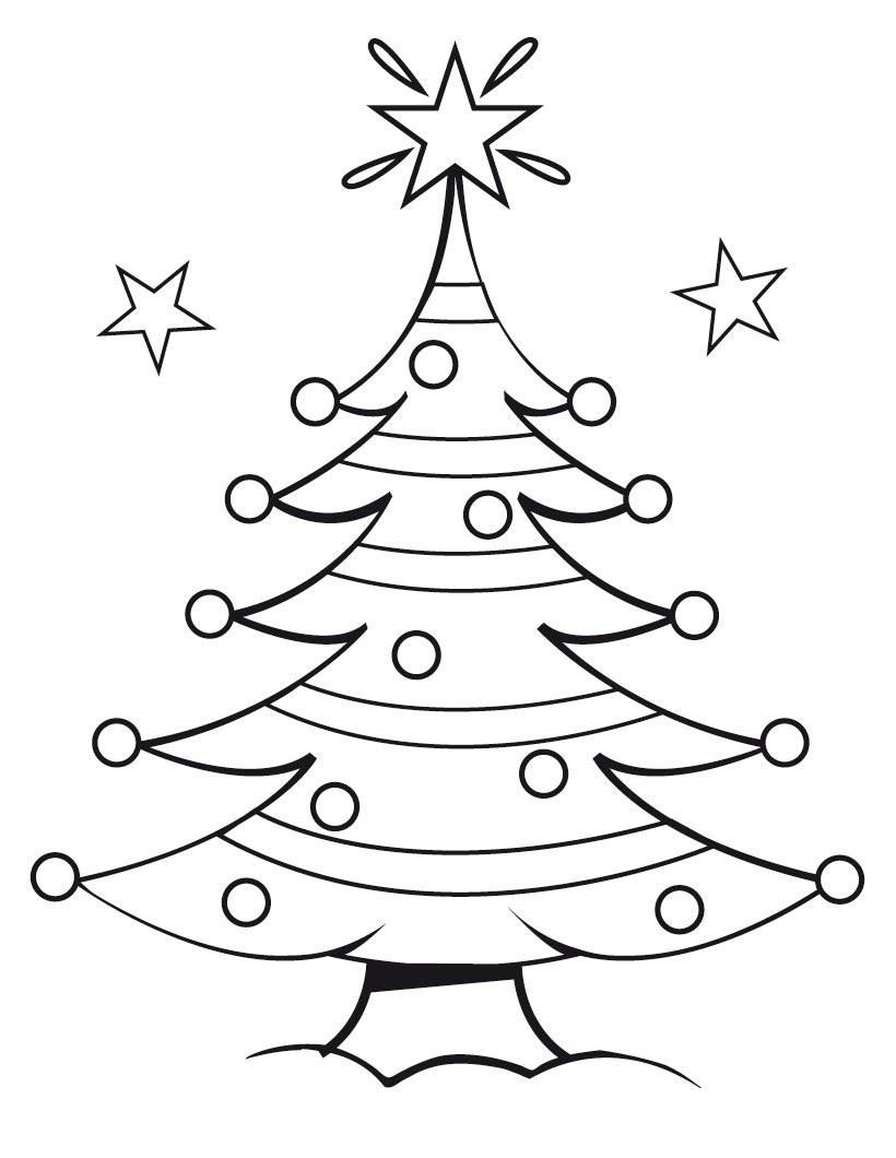 Drawn christmas ornaments blank Page Printable Tree Free Tree