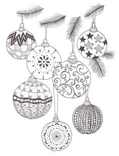 Drawn christmas ornaments bulb One Another pen ornaments Pin
