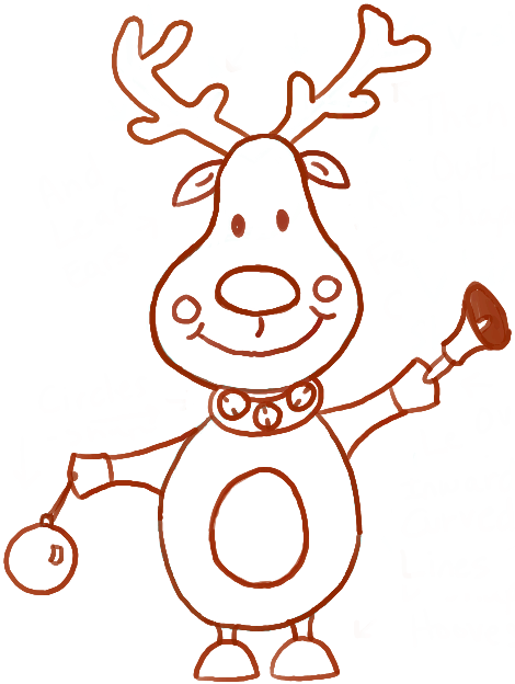 Drawn reindeer raindeer How Draw Ornament and How