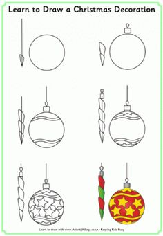 Drawn christmas ornaments childrens More  Learn activity Christmas