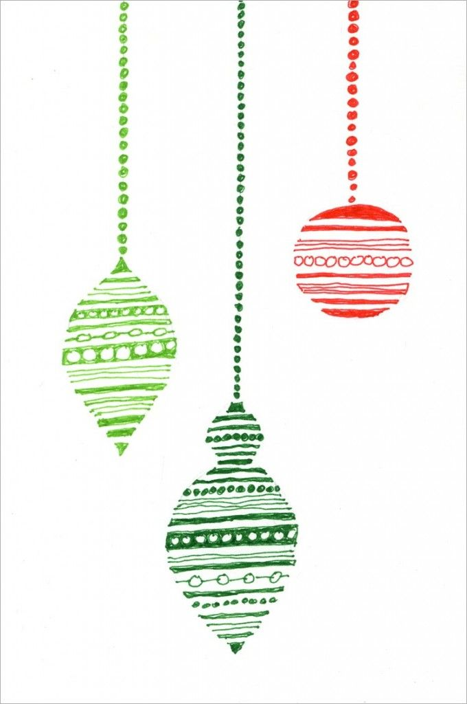 Drawn christmas ornaments childrens Best Holiday Card on Pinterest