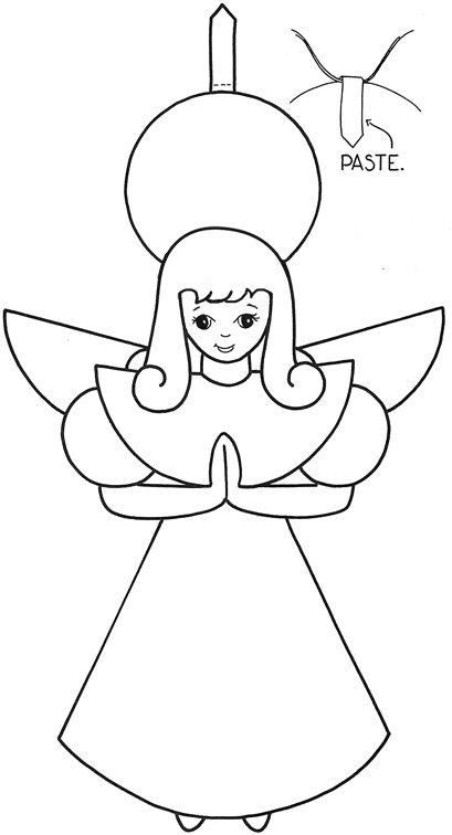 Drawn christmas ornaments christmas angel  to Activities template Arts
