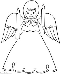 Drawn christmas ornaments christmas angel For coloring  Angel pages