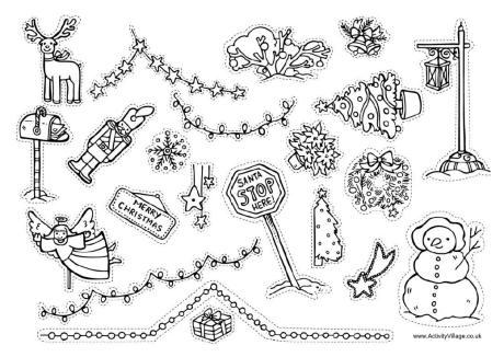 Drawn christmas ornaments christmas decoration To Christmas Printable Learn Christmas