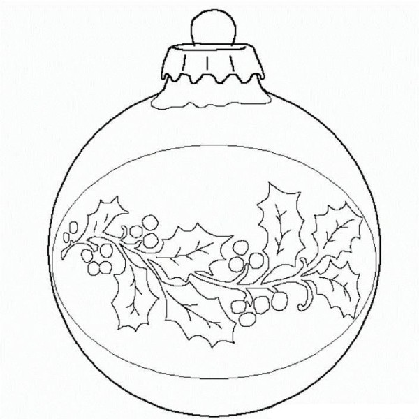 Drawn christmas ornaments christmas decoration Coloring Page Christmas Decorations Download